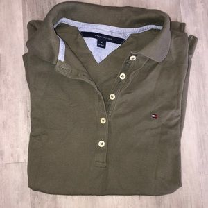 Hunter Green Tommy Hilfiger polo.